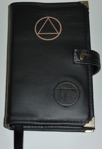 Image of Black Genuine Leather Deluxe Double Book cover for the Big 